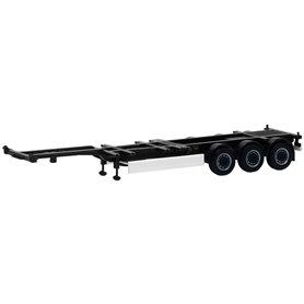 Trailer 40/45ft Highcube, 3-axlig, svart (Herpa)