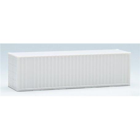 Container 30-fots, vit, omärkt, korrugerade sidor (AWM)