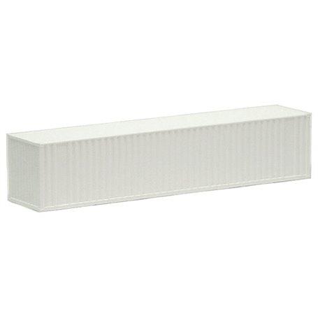 Container 40-fots, vit, omärkt, korrugerade sidor (AWM)