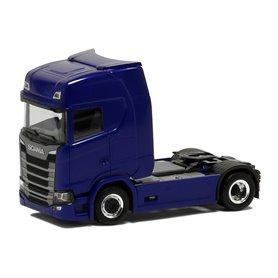 Herpa 580434 Dragbil Scania CS20, 2-axlig, metallicblå
