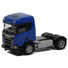Herpa 580439 Dragbil Scania CR 20, 2-axlig, blå