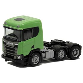 Herpa 580442 Dragbil Scania CR 20, 3-axlig, grön