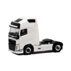 Herpa 590683 Dragbil Volvo GL FH XL 2013, 2-axlig, vit med svart chassie