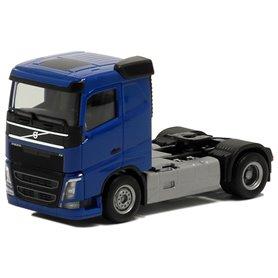 Herpa 590705 Dragbil Volvo FH Plattak, 2-axlig, blå