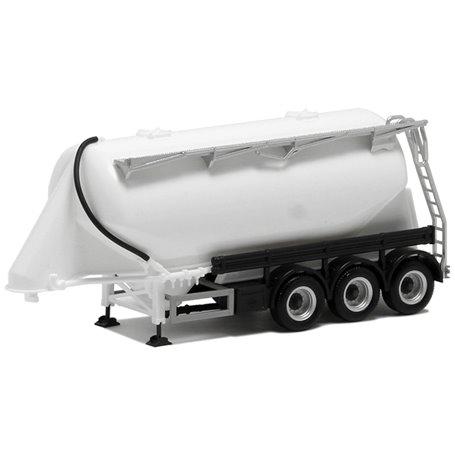 Herpa 650308 Silotrailer 3-axlig vit