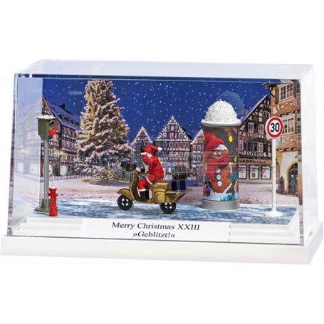 Busch 7638 Litet diorama 'Merry Christmas XXIII'. PC-Box