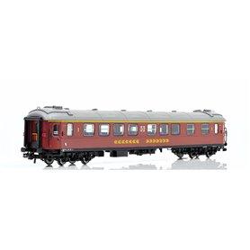 NMJ 201202.1 Personvagn SJ A2G.5158 1.a klass, brun, med Inter-City färger