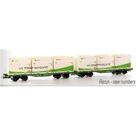 "B Models 90114 Set Innofreight FinnoWaggon (Finland) ""VR Transpoint"""