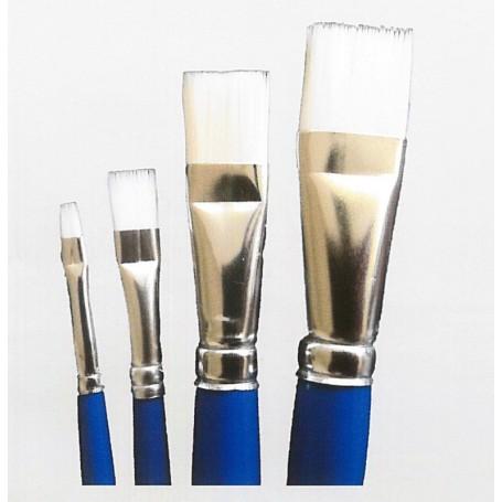 Springer Pinsel 2094.02 Hobbypensel, storlek 02, flat, syntethår, vit