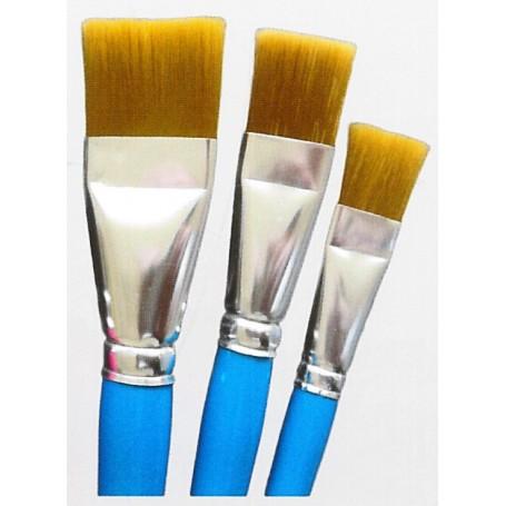 Springer Pinsel 2099.02 Hobbypensel, storlek 02, flat, nylonhår, brun