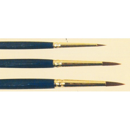 Springer Pinsel 4201.08 Modellpensel 'Dry Brush', storlek 08, rund, korta Taffino syntethår, rödbrun