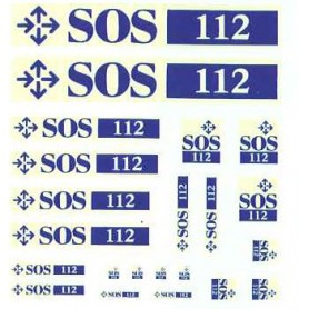 "SWB 1719401 Dekalark ""SOS"" i olika skalor"