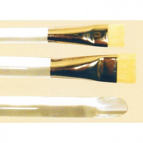 Springer Pinsel 2900.24 Spackelpensel, storlek 24, flat, korta kinahår, vit