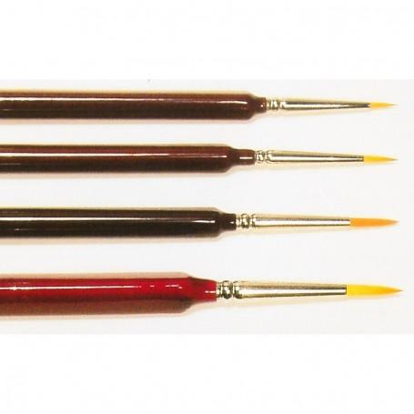 Springer Pinsel 3330.3-0 Pensel Toray, trekantsskaft, storlek 3|0, rund, Toray syntethår, guld