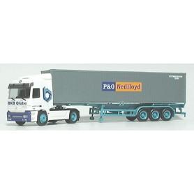 "Herpa 3648 Mercedes Benz Actros L Bil & Containertrailer 40' ""BK-group.de / P&O Nedlloyd"""
