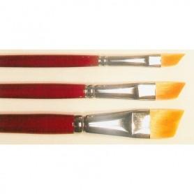 Springer Pinsel 2057.02 Pensel Toray, storlek 02, flat diagonal, Toray syntethår, guld
