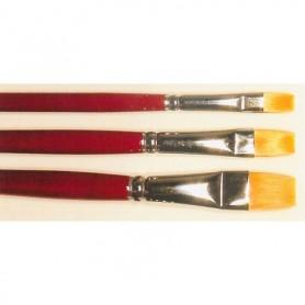 Springer Pinsel 2054.06 Pensel Toray, storlek 06, flat, Toray syntethår, guld