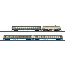 """Märklin 00049 Tågset typ DB """"Class 218"""" och 3 personvagnar"""
