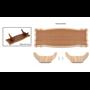 OcCre 19105 Ställ för träbåtar 390 x 145 mm