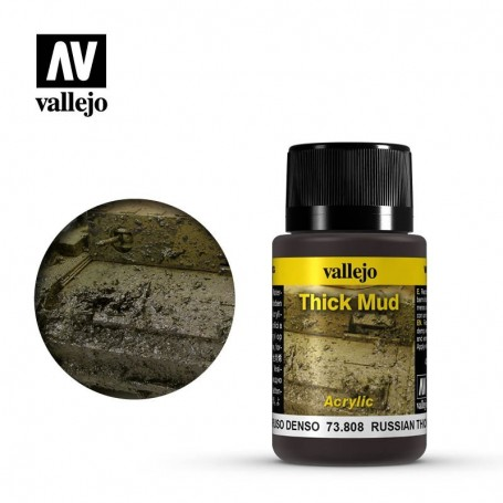Vallejo 73808 Weathering Effects Russian Thick Mud 40ml