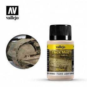 Vallejo 73810 Weathering Effects Light Brown Thick Mud 40ml