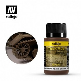 Vallejo 73811 Weathering Effects Brown Thick Mud 40ml