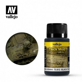Vallejo 73812 Weathering Effects Black Thick Mud 40ml