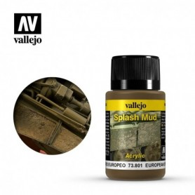 Vallejo 73801 Weathering Effects Wet European Splash Mud 40ml