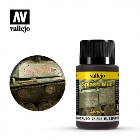Vallejo 73802 Weathering Effects Wet Russian Splash Mud 40ml
