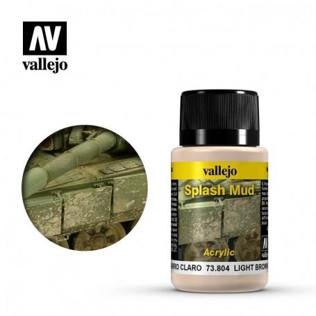 Vallejo 73804 Weathering Effects Wet Light Brown Splash Mud 40ml