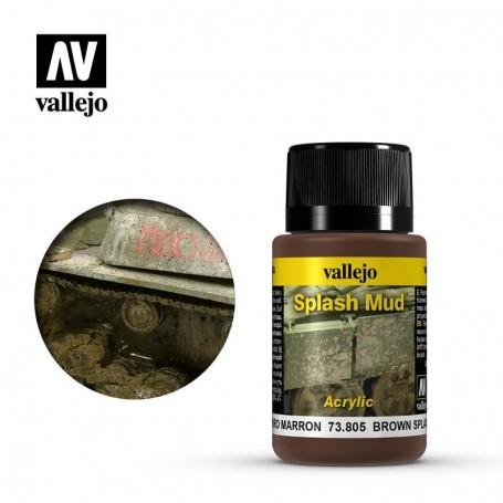 Vallejo 73805 Weathering Effects Wet Brown Splash Mud 40ml