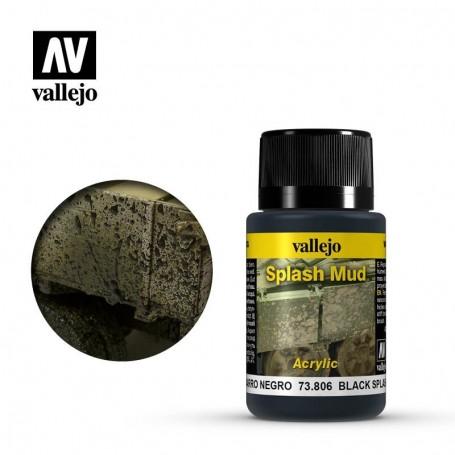 Vallejo 73806 Weathering Effects Wet Black Splash Mud 40ml
