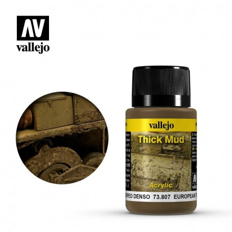 Vallejo 73807 Weathering Effects European Thick Mud 40ml