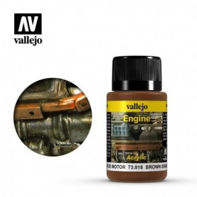 Vallejo 73818 Weathering Effects Brown Engine Soot 40ml