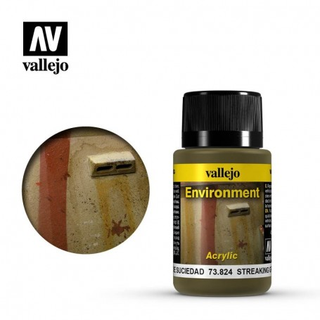 Vallejo 73824 Weathering Effects Streaking Grime 40ml