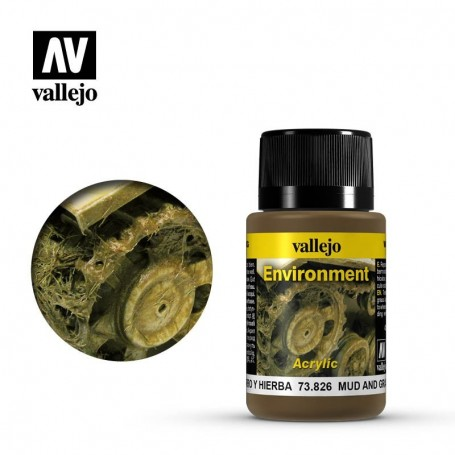 Vallejo 73826 Weathering Effects Mud And Grass Effect 40ml