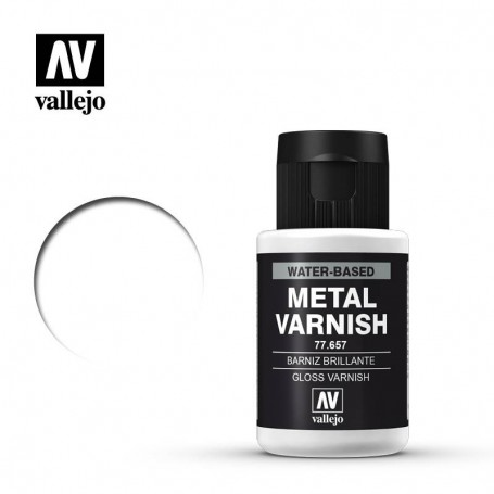 Vallejo 77657 Metal Color 750 Gloss Metal Varnish 32ml