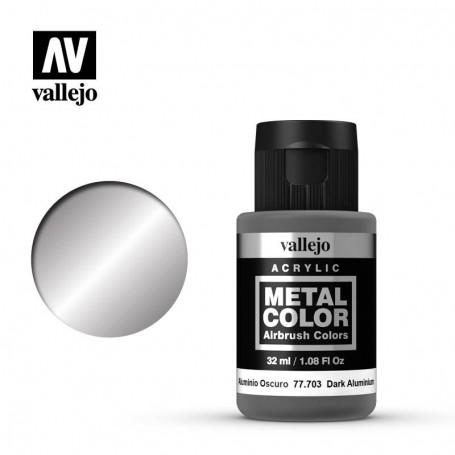 Vallejo 77703 Metal Color 703 Dark Aluminium 32ml