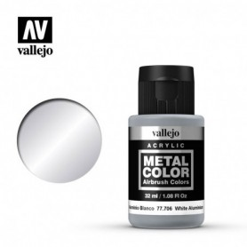 Vallejo 77706 Metal Color 706 White Aluminium 32ml