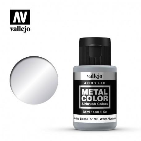Vallejo 77706 Metal Color 706 White Aluminium 32ml