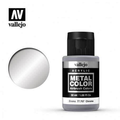 Vallejo 77707 Metal Color 707 Chrome 32ml