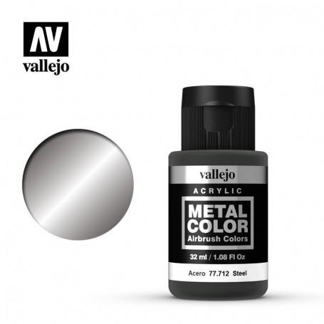 Vallejo 77712 Metal Color 712 Steel 32ml