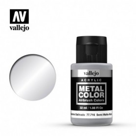 Vallejo 77716 Metal Color 716 Semi Mate Aluminium 32ml