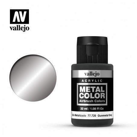 Vallejo 77720 Metal Color 720 Gunmetal 32ml