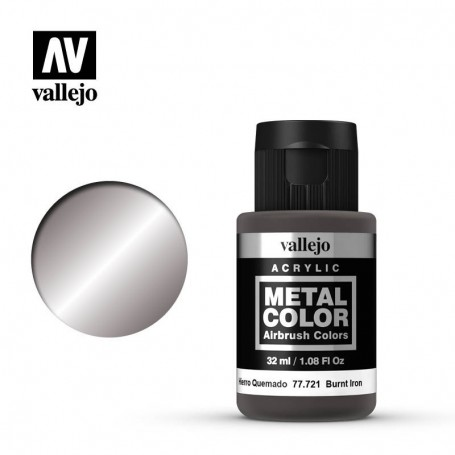 Vallejo 77721 Metal Color 721 Burnt Iron 32ml