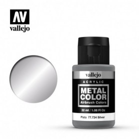 Vallejo 77724 Metal Color 724 Silver 32ml