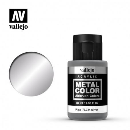 Vallejo 77724 Metal Color 724 Silver 32ml