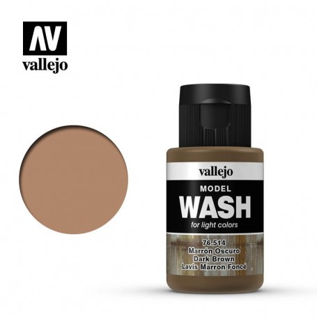 Vallejo 76514 Model Wash 514 Dark Brown 35ml