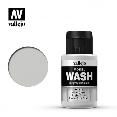 Vallejo 76515 Model Wash 515 Light Grey 35ml
