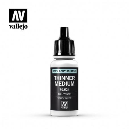 Vallejo 70524 Thinner Medium 524, 17 ml